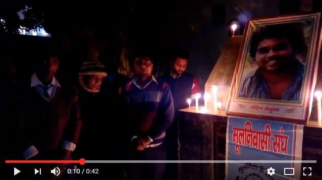 Mulnivasi Sangh Delhi state..( protest against justice rohith vemula's death)